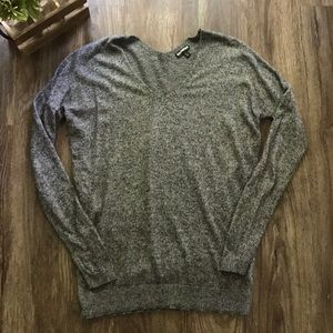 Wool Blend V-Neck Sweater from Express